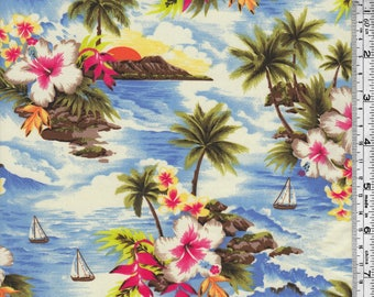 Hawaiian Vacation Nylon Spandex Print