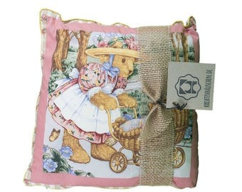 Pillow square Teddy pink romance