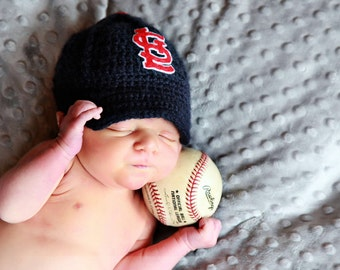 Newborn Baby Baseball Cap, Baseball Hat, St. Louis Cardinals , Custom Made to Order