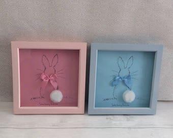 Pink 'some bunny loves me' frame