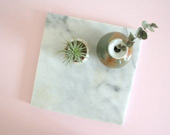 Marble Tray / Marble Slab / Marble Serving Tray / Marble Cutting Board / Marble Ottoman Tray