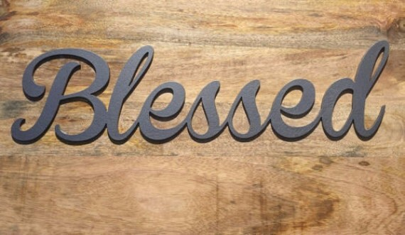 Blessed Metal Sign Wall Art Hanging Artwork Plaque Home Decor