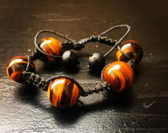 Handmade - Beaded - Tiger Eye Bracelet - Birthday Gift - Anniversary Gift - Frindship - Promise Bracelet