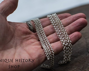 925 Sterling Silver Chain Necklace 3-4 mm