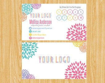 Punch Card, Buy 10 Get 1 Free, Free Leggings Style Marketing Card02 | FC_02