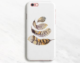 Delicate iPhone 6 Case Feather Pattern Case Feather iPhone Case Bird iPhone 7 Plus Case Feminine iPhone 6s Case Samsung Galaxy S7 S6 S5 S4