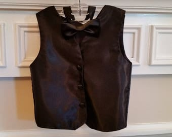 Boys vest with matching bow tie