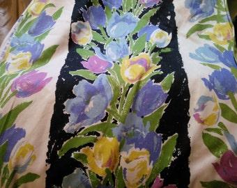 "Vintage Tulips - Waverly fabric Dutch Treat design 56"" wide"