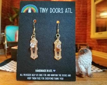 Tiny Doorknob Earrings - Knob
