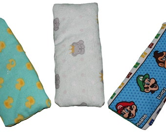 Aromatherapy Hot/Cold Pack Eye/Sinus Pillow - Rice filled Flannel & Cotton Microwavable Rice Heat Pad Cold Pack Eye/Sinus Pillow