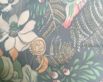 Vintage floral pastel chiffon fabric