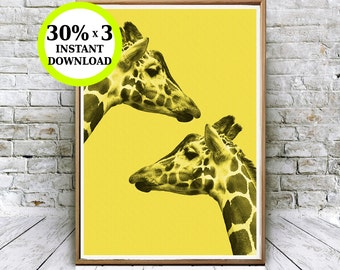 Print giraffe, giraffe photo, printable, decoration wall, animal print, printable animal, animal nursery art, safara decoration, giraffe