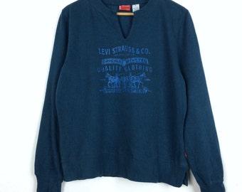 Vintage Levi's Strauss & Co Sweatshirt Big Logo Medium Size