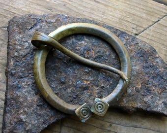 Ancient Viking C. 9th-10th Century AD large bronze Brooch Fibula / Authentic Viking Artifact 1000-years-old Viking Jewelry