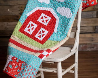 Red Barn Baby Quilt