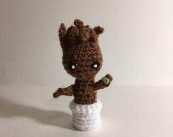 Baby Groot Crochet Amigurumi Plushie