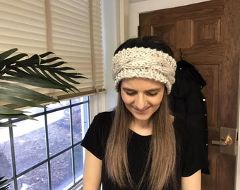 Rosa's Cable Knitted Ear Warmer Headband