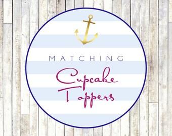 Matching Cupcake Toppers - Printable DIY