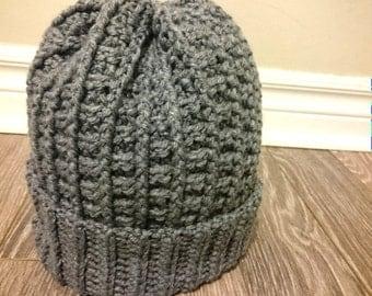 ridge stitch knit hat