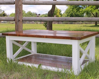 Coffee Table // Farm House // Hand Made // Customized // Solid Wood