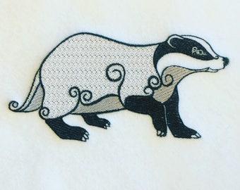 Machine Embroidery Design - Ornamental Badger