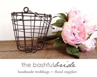 5 sizes flower girl basket, flower girl, rustic flower girl basket, rustic wedding, flower girl, farmhouse chic, farmhouse wedding, barn wed