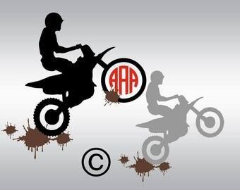Dirt Bike svg, Motocross svg, Dirt bike clipart, Motocross silhouette, Motorcycle svg, Motocross shirt, Cricut, Cameo, Svg, DXF, Png, Eps