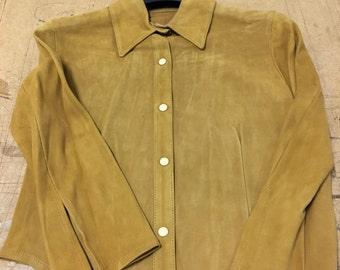 CLEARANCE 100% genuine suede tan shirt