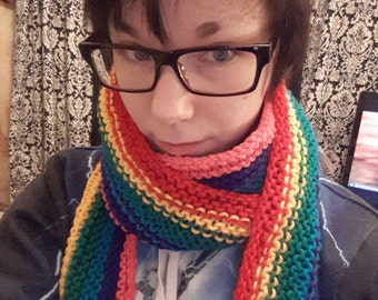 SUPERLONG rainbow gay pride scarf