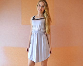 Amy dress basic dress fun dress summer dress grey dress purple dress