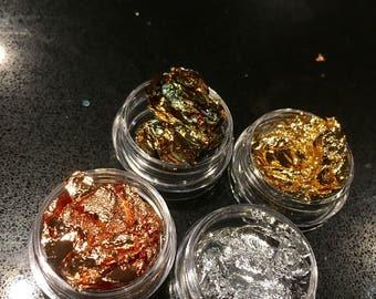 Foil pots body glitter accessories