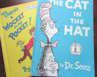 Dr Seuss Cat In The Hat There's  A Wocket In My Pocket Books Children's Book