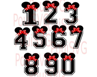 Minnie mouse bows SVG, Minnie Mouse numbers SVG ,Sports Fonts svg,Varsity fonts, BasketBall svg, Silhouette cut file,cricut cutting file