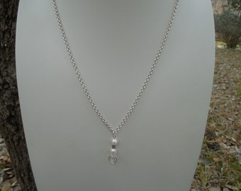 Silver Crop Circles Pendant and Earring Set