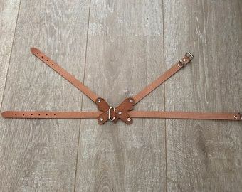 Leather Handgemaak Adjustable Dog harness