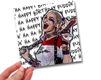 HARLEY QUINN // Margot Robbie // Birthday Card