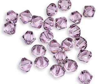 Swarovski Crystal Bicone 6mm Light Amethyst Beads 5301/5328 (Package of 24 Beads)