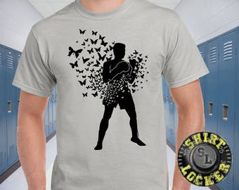 Muhammad Ali Float Like a Butterfly Sting Like A Bee Mens Ultra Tee Shirt The Greatest Boxer of All Time Great Artwork and Quality