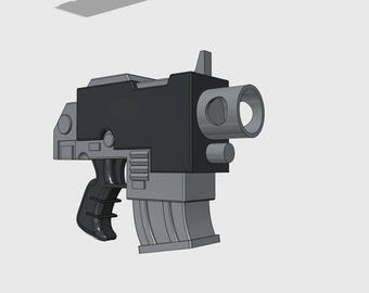 Unofficial | Warhammer 40K inspired | Bolter Pistol Replica 3DFW Pattern | Life Sized | Unofficial