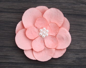 ADD ON Large Coral Flower with Pearls Embellishment