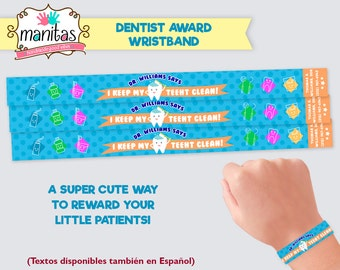 40 pack Dentist Wristbands - Custom Wristband - Personalized Wristband - Reward Wristband - Dental Wristband - Dentist Gift