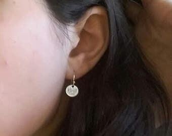 Maritime jewellery, maritime earrings, gift, maritime earrings, coin earrings silver, silver coin earrings, minimalist jewelry