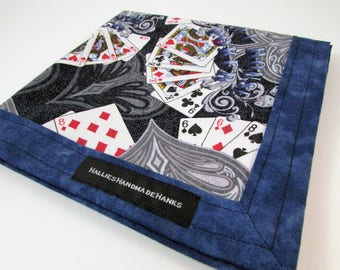Full House Poker Playing Cards Handmade Hank EDC Hank Everyday Carry Pocket Dump Hank Mens Handkerchief Gift for Him