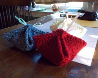 Knitted Face Cloths with homemade soap