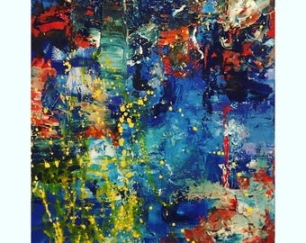 Abstract Painting, 25% OFF SALE with coupon code JULYSPECIAL25 at checkout: Strip