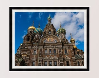 The Church of the Savior on Spilled Blood, St. Petersburg Russia, Photography Print, Wall Art, Home Decor