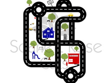 Father's Day SVG cut file Road map shirt car racetrack shirt for silhouette cameo and cricut
