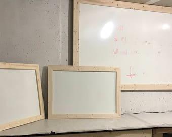 Dry Erase Board w/ Rustic Frame.