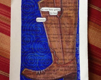 Blackout Poetry -  The Boot (Dealing with Blue) - Art and a Donation to AHA