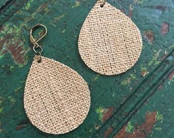 burlap earrings